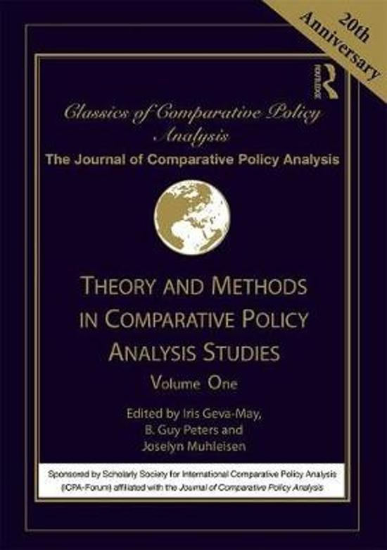 Theory and Methods in Comparative Policy Analysis Studies