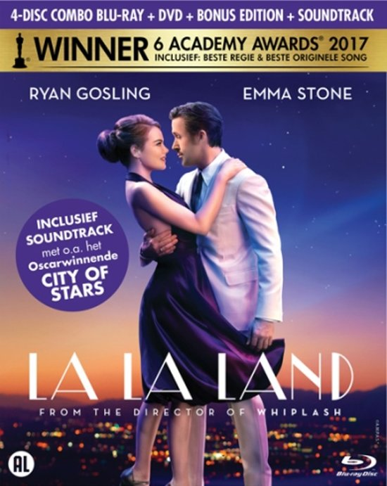 DVD cover van La La Land (Blu-ray + DVD + Soundtrack + Bonus-disc) (Limited Edition)