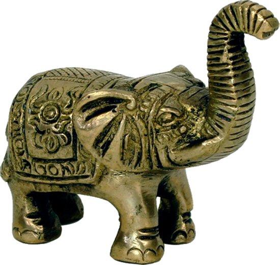 Minibeeldje olifant messing - 7x7.5 - 185 - Messing - M