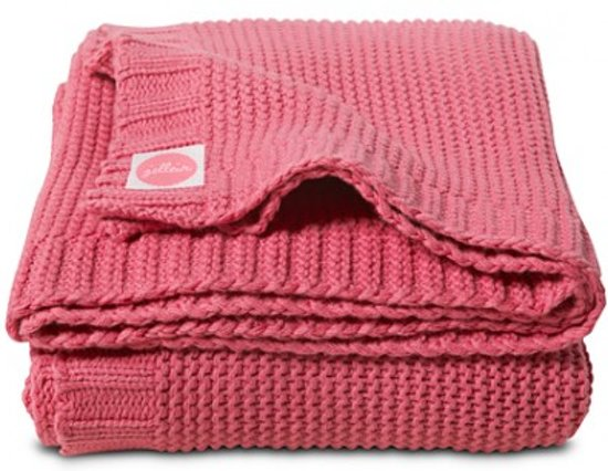Jollein Chunky Knit - Ledikantdeken 100x150cm - Raspberry