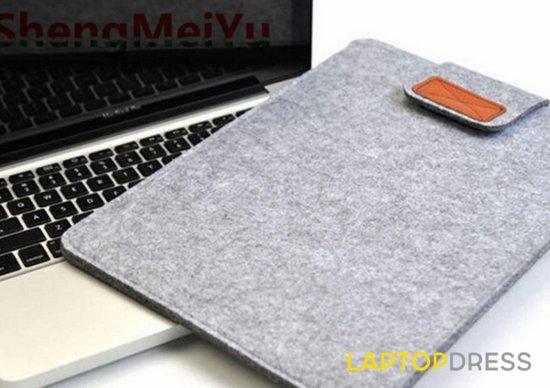 Vilten sleeve hoes voor macbook air 11 inch - kleur grijs