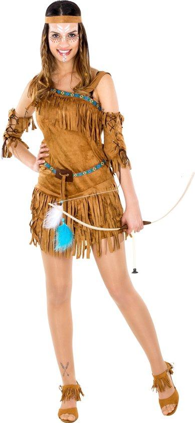 dressforfun 300549 Vrouwenkostuum Indianenvrouw Sexy Cheyenne voor dames vrouwen S verkleedkleding kostuum halloween verkleden feestkleding carnavalskleding carnaval feestkledij partykleding