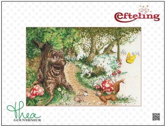 Thea Gouverneur Borduurpakket 2060A Efteling Sprookjesboom - Aida stof 100% katoen
