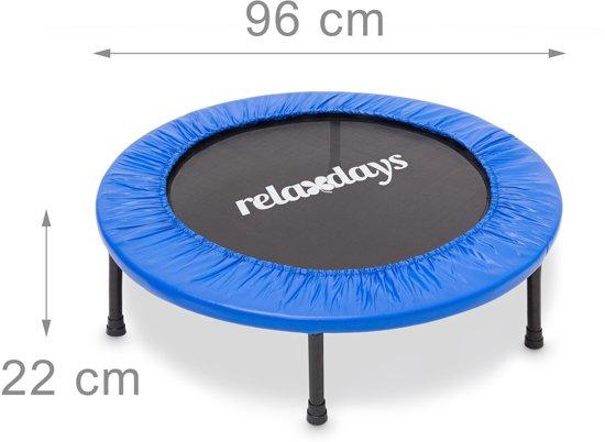relaxdays - fitness trampoline - aerobic - tot 100 kg - indoor - conditie