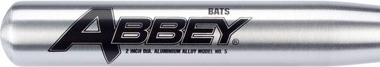 Abbey Honkbalknuppel - Aluminium - 65 cm - Zilver