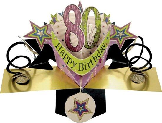 Magnifiek bol.com | 80 jaar - 3D kaart - pop ups - happy birthday &QQ55