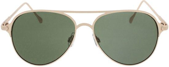 Icon Eyewear Zonnebril SALVATORE - Goudkleurig montuur - Groene glazen