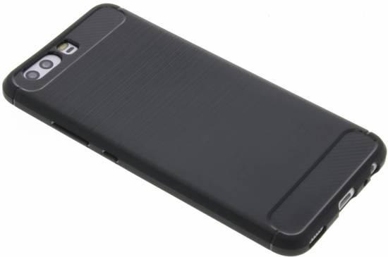Zwart Brushed TPU case Huawei P10