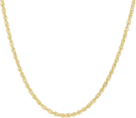 The Jewelry Collection Ketting Koord 2,2 mm 45 cm - Verguld