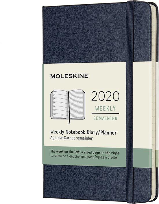 Moleskine Agenda - 12 Maanden - Wekelijks - Pocket (9x14cm) - Donkerblauw - Harde Kaft