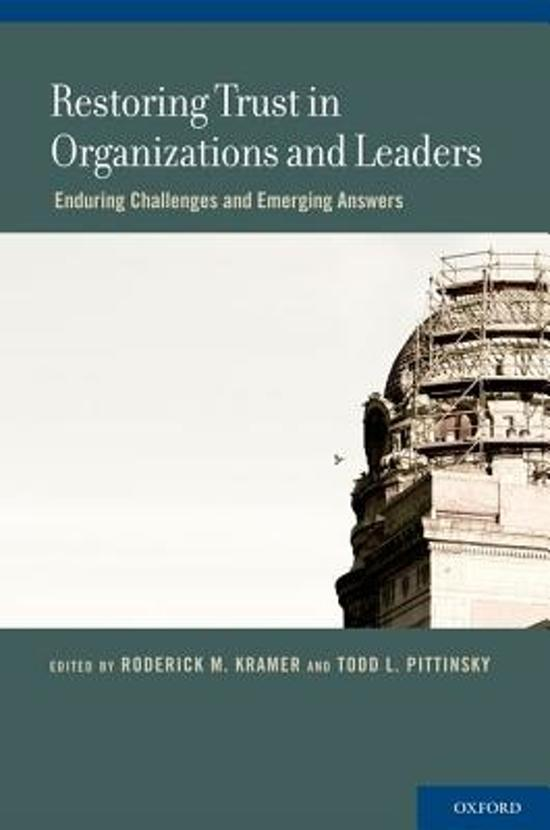 Restoring Trust in Organizations and Leaders