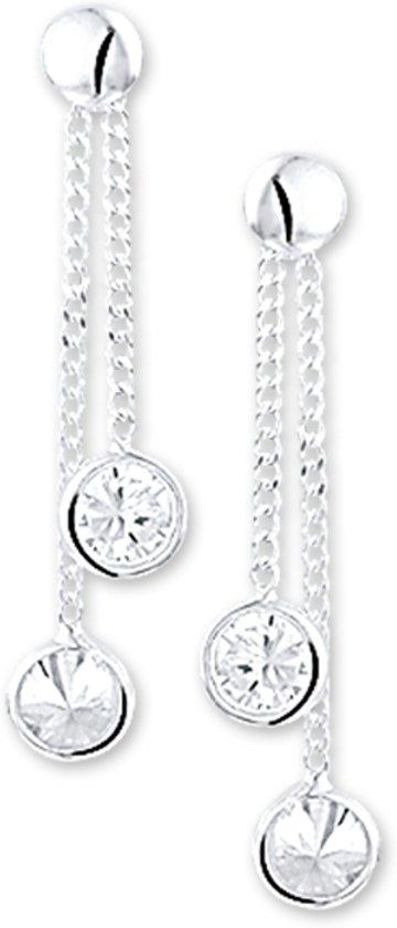 The Kids Jewelry Collection Oorhangers Zirkonia - Zilver