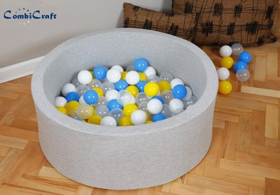 Licht grijs ballenbak / ballenbad met 200 ballenbakballen