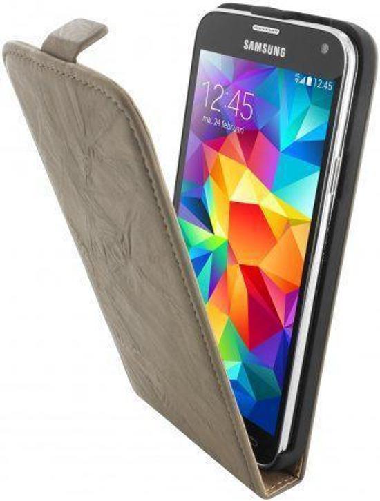 Mobiparts Vintage Flip Case Samsung Galaxy S5 Creme in Afsnee