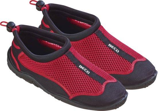 BECO waterschoenen - mesh - zwart/rood - maat 39