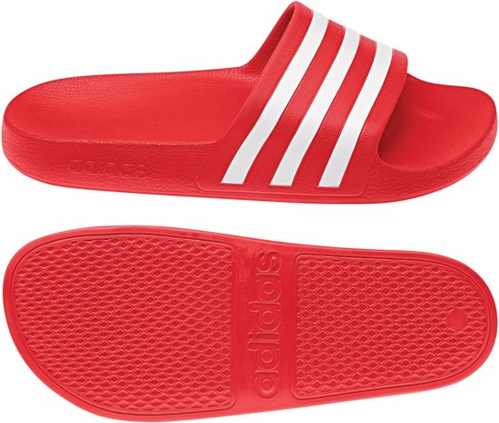 wit Unisex Rood 43 Aqua Maat Adidas Slippersslippers Adilette wOv4UU