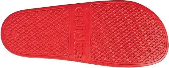 Adidas Unisex Aqua 43 Rood wit Slippersslippers Maat Adilette WWrUa