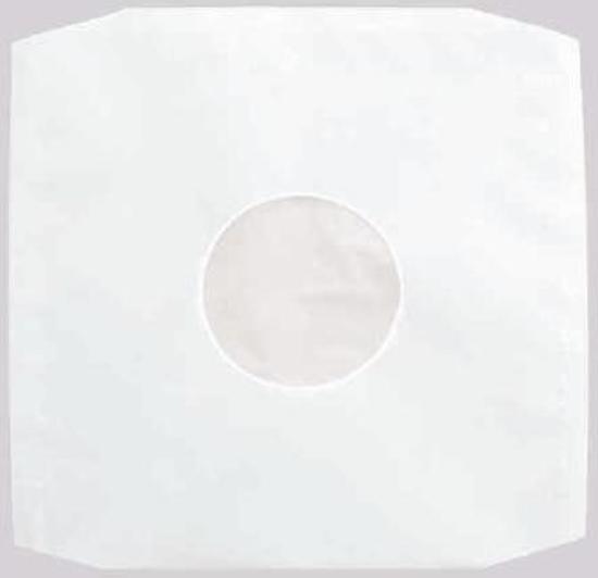 """LP papieren binnenhoezen gevoerd """"12 inch"""". Set van 100 stuks."""