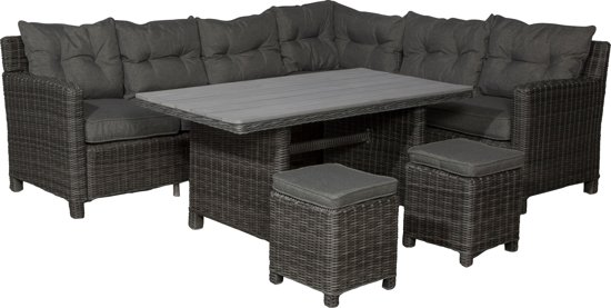 garden impressions minesota lounge dining set rechts earl grey antraciet. Black Bedroom Furniture Sets. Home Design Ideas