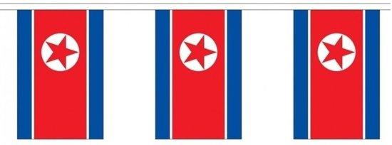 Buiten vlaggenlijn Noord Korea - 300 cm - slingers versiering