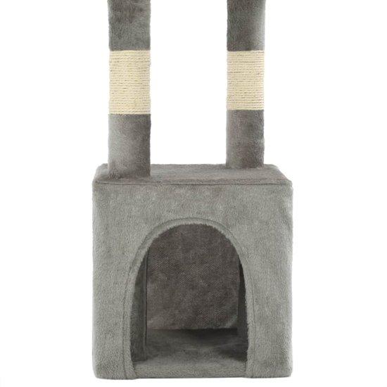 vidaXL Kattenkrabpaal met sisal krabpalen 109 cm grijs