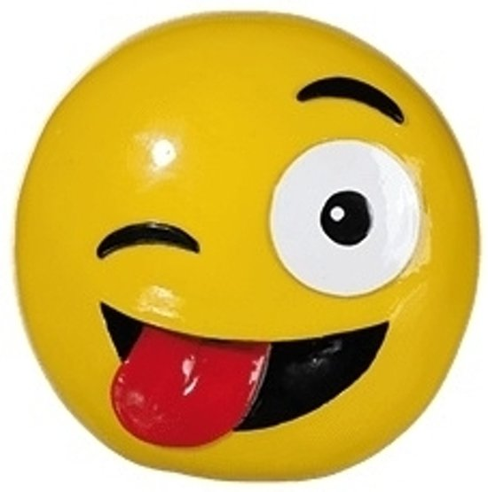 Tong Dies: Emoticon Knipoog Tong Spaarpot 13 Cm