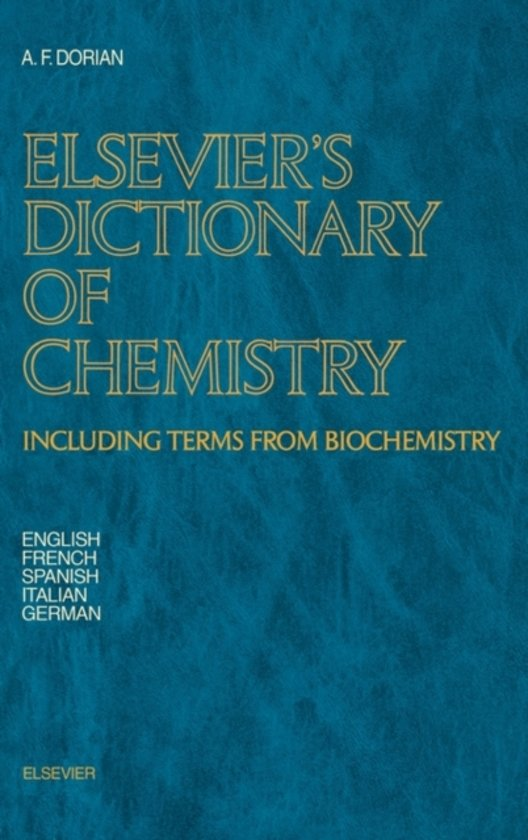 Elsevier's Dictionary of Chemistry