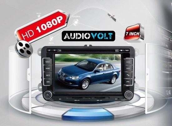 audiovolt autoradio 2 din navigatie volkswagen golf 5 6 polo. Black Bedroom Furniture Sets. Home Design Ideas