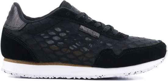 f03fcad041a bol.com | Woden Vrouwen Sneakers - Nora ii mesh - Zwart - Maat 38
