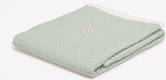 fair and cute - ledikantdeken zomer - light  green - soft dots