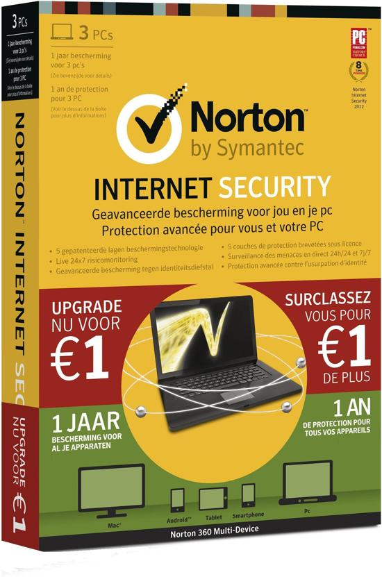 Symantec Norton Internet Security 2013 + Norton AntiTheft 1.0 - 3 Gebruikers / Nederlands (XMAS Bundel)