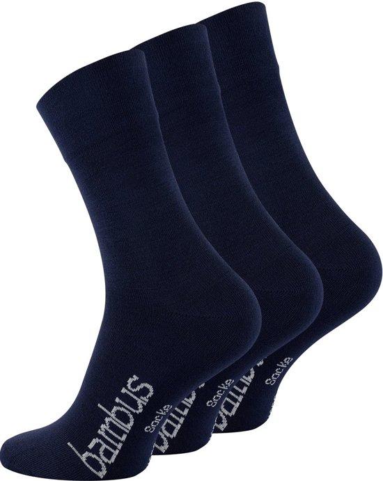 1337e0c6e54 bol.com | Bamboe sokken - 3 paar - blauw - normale schachtlengte ...