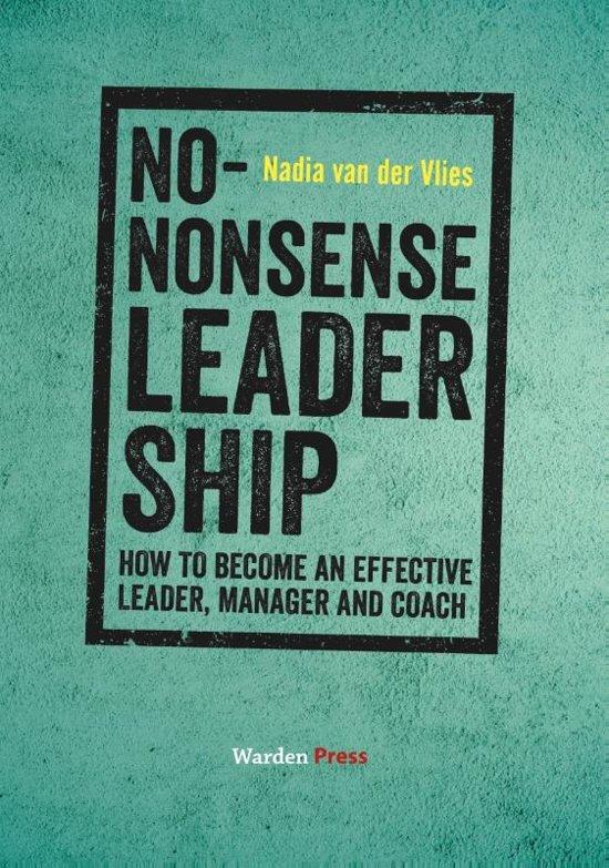 Boek cover No-Nonsense Leadership van Nadia van der Vlies (Paperback)