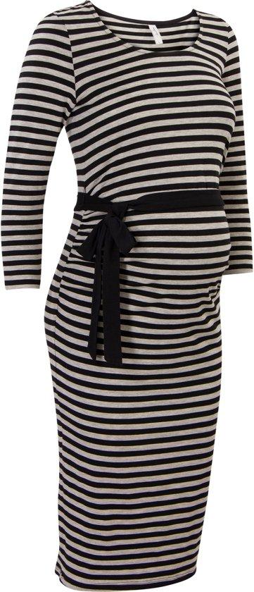 Miss Etam Zwangerschapsjurk Po Jurk tricot - Multi zwart - XXL