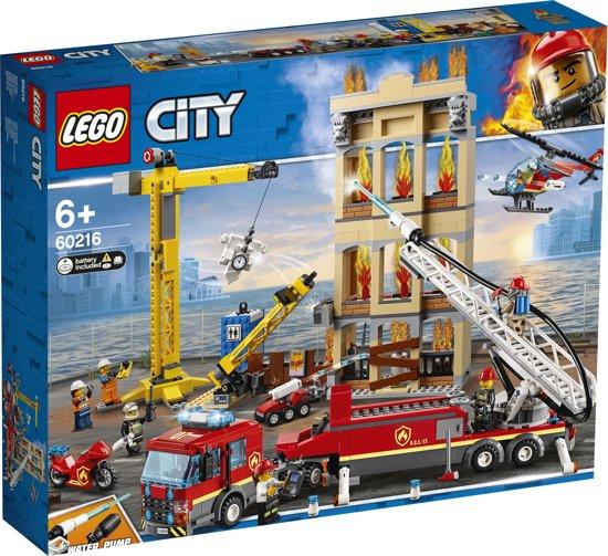 Afbeelding van LEGO City Brandweerkazerne in de Stad - 60216 speelgoed