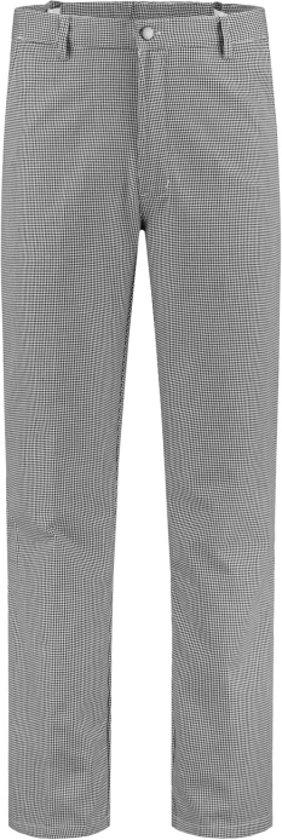 Yoworkwear Bakkersbroek polyester/katoen wit/zwart maat 64