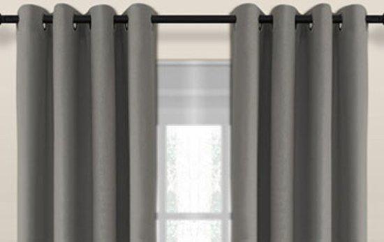 bol.com | Luxe blackout gordijn met ringen – grijs 1.5x2.5m ...