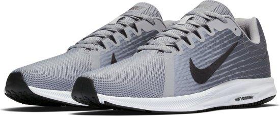 Nike Downshifter 8 Hardloopschoenen Heren Sportschoenen - Maat 41 - Mannen - grijs/zwart/wit