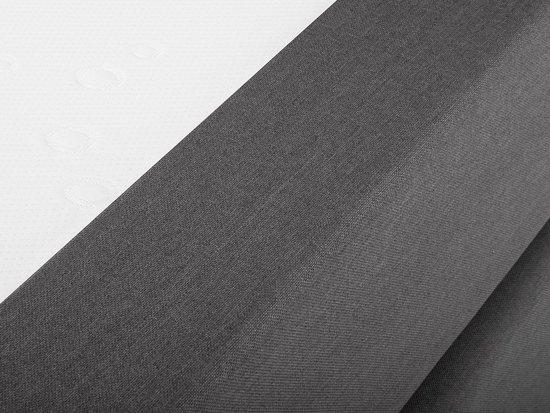 Beliani President Boxspringbed Grijs polyester