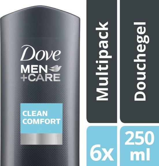 Dove Men+Care Clean Comfort - 6 x 250 ml - Douchegel - Voordeelverpakking
