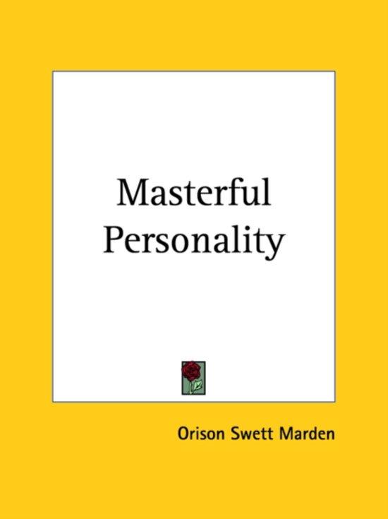 Masterful Personality (1923)