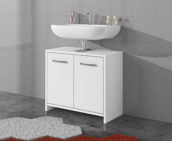 Badkamermeubel Met Badkamerkast : Bol badkamerkast nemo cm met hoogglans witte fronts