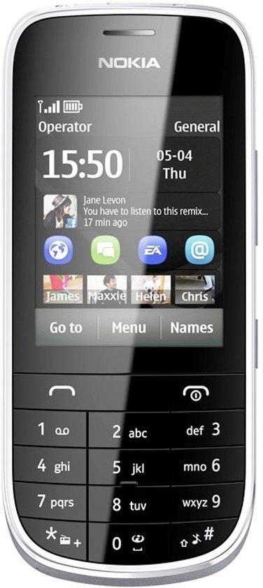 Nokia Asha 203 - Grijs - Vodafone prepaid telefoon
