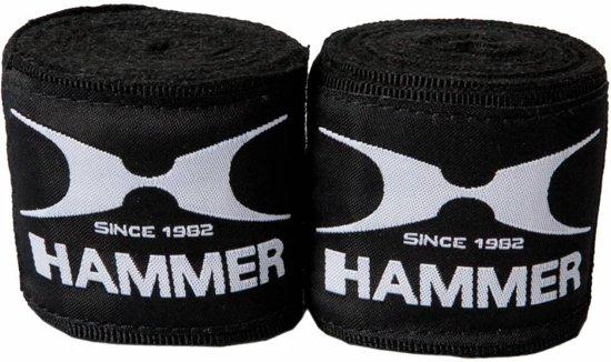 Hammer Boxing bandages elastic, 4,5m, zwart