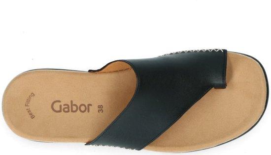 Gabor Dames Teenslipper - Zwart