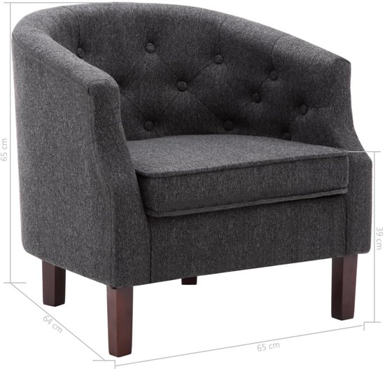 Lounge Stoel Bed.Luxe Fauteuil Donkergrijs Loungestoel Lounge Stoel Relax Stoel Chill Stoel Lounge Bankje Lounge Fauteil Cocktail Stoel