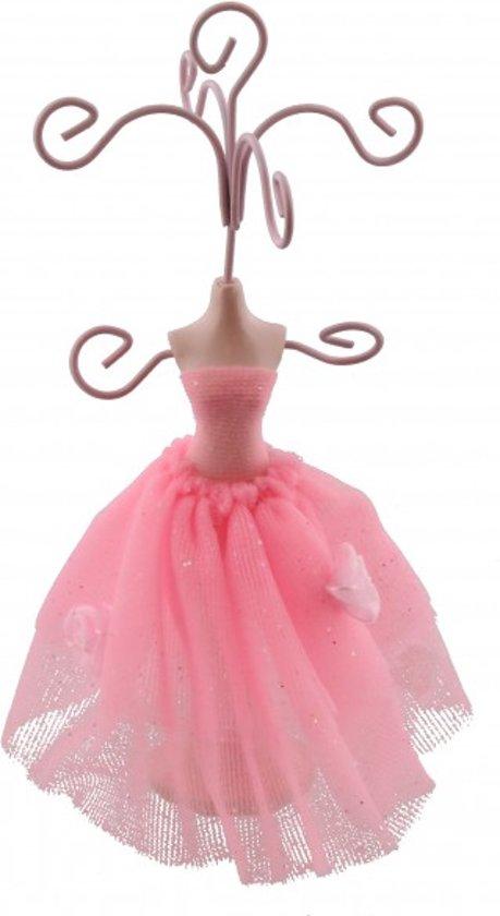 """Roze """"buste"""" van 16 x 8 cm voor het presenteren van sieraden"""