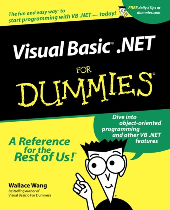 Boek cover VisualBasic .NET For Dummies van Wallace Wang (Paperback)