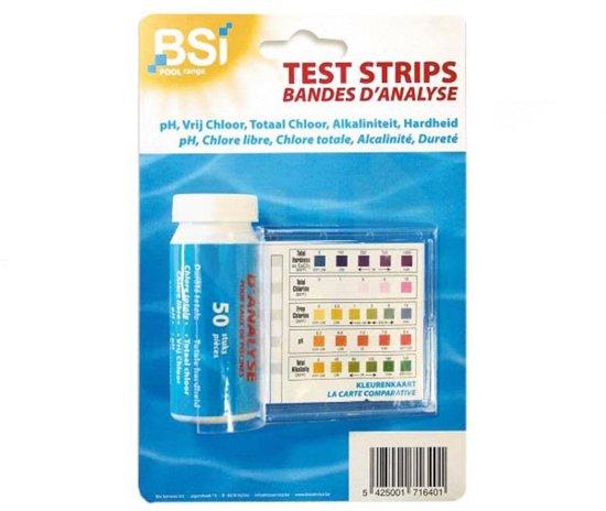 Test strips voor zwembadwater - set van 50 stuks