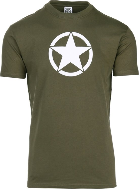 Ster Army Legergroen Met shirt T Witte Us S8A18xq